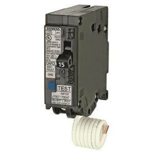 Siemens QA115AFC Plug-In Mount Type QAF2 Combination Arc Fault Circuit Breaker 1-Pole 15 Amp 120 Volt AC
