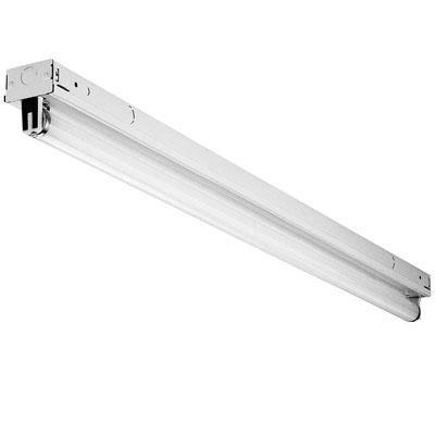Lithonia Lighting TZ132-MV 1-Light Surface/Suspended Mount Tandem Channel Low Profile Strip Light 32 Watt 120 - 277 Volt High Gloss Baked White Enamel