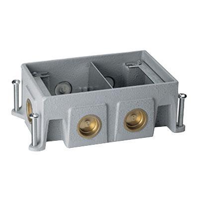 Wiremold 880CS2-1 Cast Iron 2-Gang Multi-Service Floor Box 8-1/2 Inch x 5-3/16 Inch x 3-7/16 Inch 94 Cubic-Inch OmniBox®