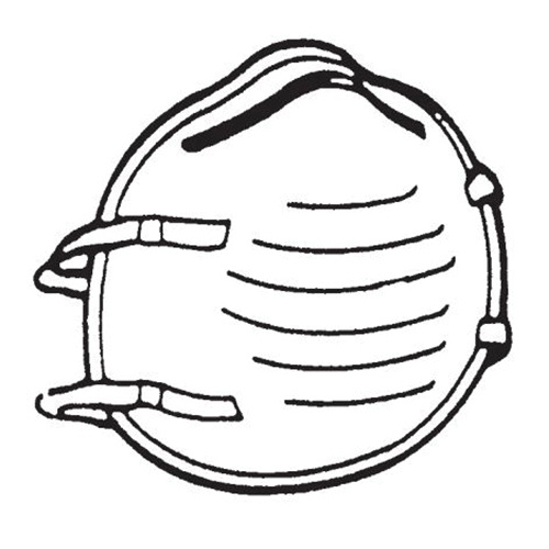 Respirators Face Mask Safety Personal - 2-strap Bugler S1354