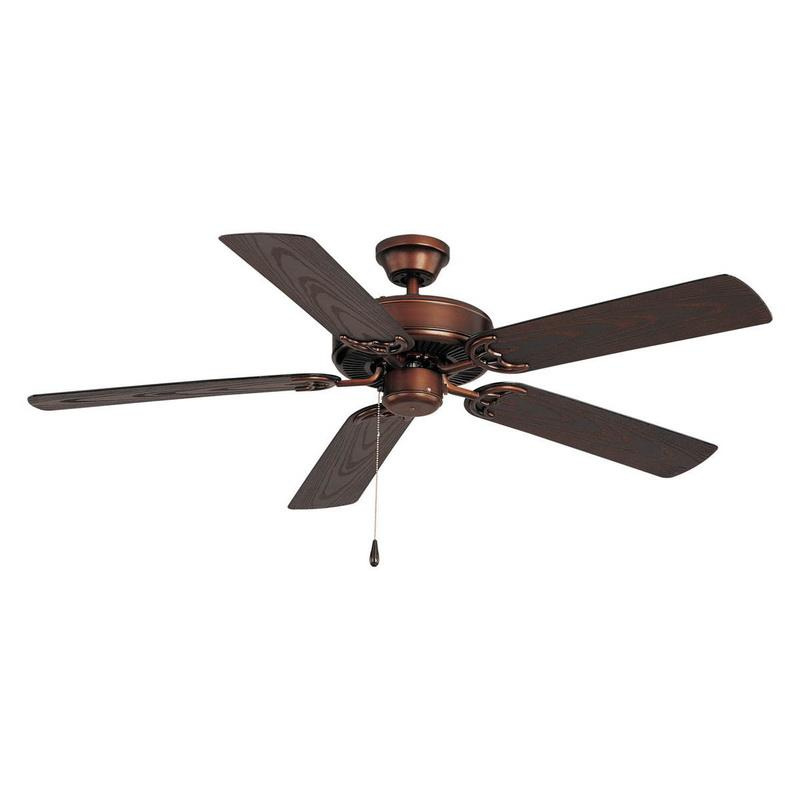 Maxim Lighting 89915OI Basic-Max Outdoor Ceiling Fan 52 Inch Blade Oil Rubbed Bronze Iron