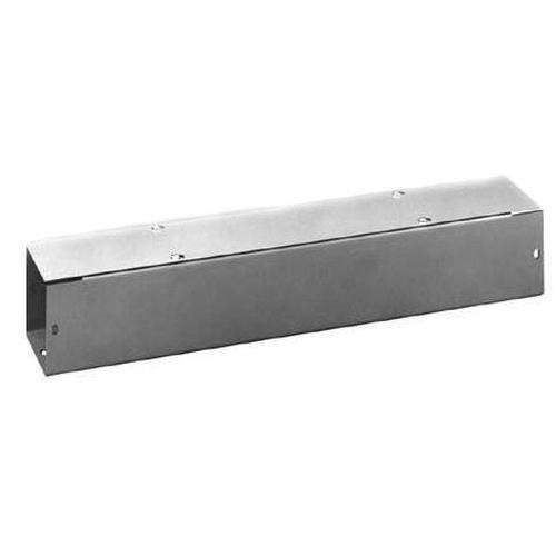 Hoffman F66T124GVP ANSI 61 Gray Polyester Powder Coated 14/16 Gauge Steel Straight Section Lay-In Wireway 24 Inch x 6 Inch x 6 Inch