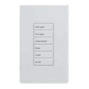 Cooper Industries RC-6TSB-OS3-W Wallmount 6 Small Button Room Controller Wallstation 24 Volt DC White Greengate®