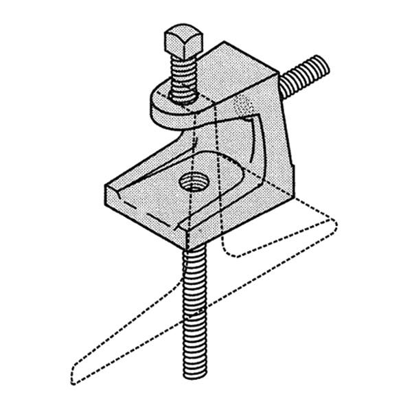 Versabar VX-9004-WM Malleable Iron Wide Mouth Beam Clamp 1/4 Inch Rod