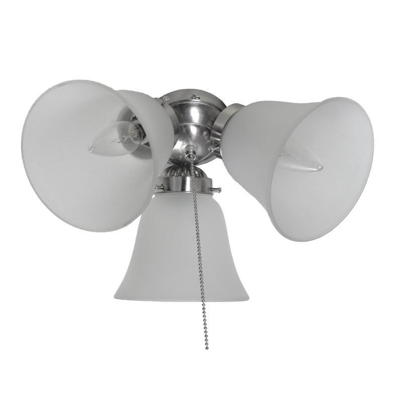 Maxim Lighting FKT207FTSN Basic-Max Ceiling Fan Light Kit 3 Lamp Satin Nickel