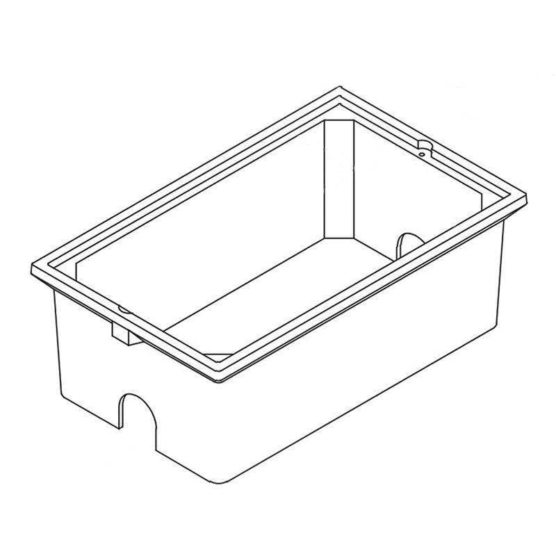 Quazite PC1730BA12 Precast Polymer Concrete Fiberglass Reinforced Straight Underground Concrete Box With Standard Open Bottom 30 Inch x 17 Inch x 12 Inch