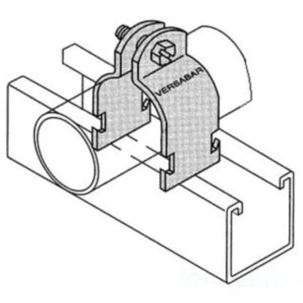 Versabar VP-1125-SS-316 316 Stainless Steel Pipe Clamp 1-1/4 Inch