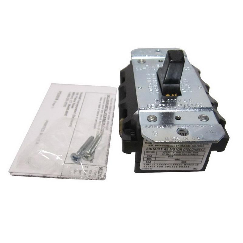 Hubbell-Wiring HBL7832D 2-Pole AC Manual Motor Controller 600 Volt AC 30 Amp Circuit-Lock®