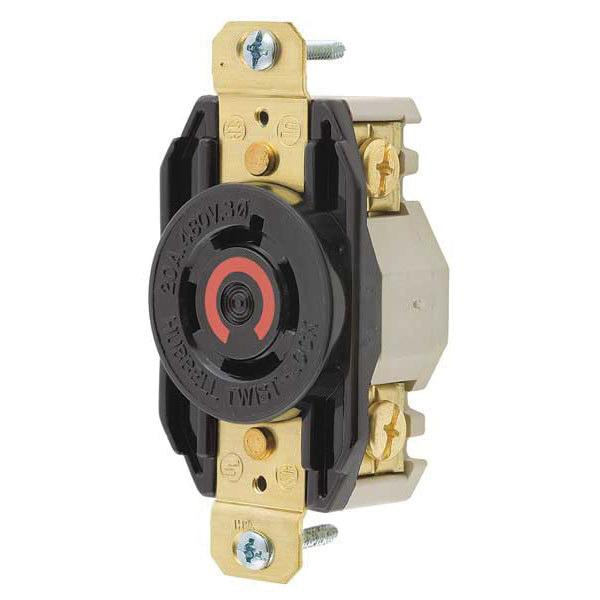 Pn on Hubbell 480 20 Amp 3 Phase Twist Lock