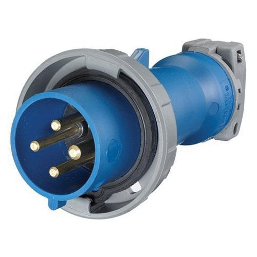 Hubbell-Wiring HBL430P9W Watertight Pin and Sleeve Plug With Locking Ring 3 Pole 4 Wire 30 Amp 250 Volt AC 3-Phase