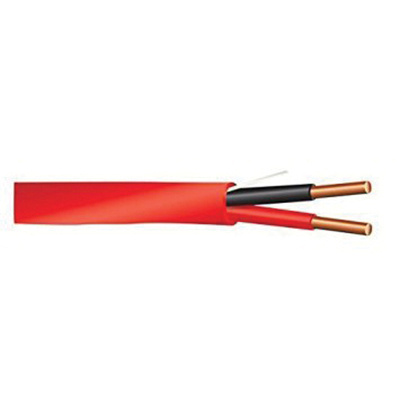 Solid Bare Copper Unshielded Riser Rated Fire Alarm Cable 14/2 1000 ...