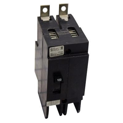 Eaton GHB2100 Bolt-On Mount Type GHB Molded Case Circuit Breaker 2-Pole 100 Amp 277/480 Volt AC 125/250 Volt DC
