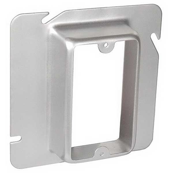 Thomas & Betts 72C16 Pre-Galvanized Steel 1-Gang Single Device Box Cover 4-11/16 Inch x 4-11/16 Inch x 1-1/4 Inch Steel City®