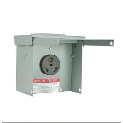 30 Amp Outlet >> Milbank P 13 Single Receptacle Power Outlet 1 Receptacles 120 Volt 30 Amp