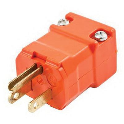 Hubbell-Wiring HBL515PVO 3-Wire 2-Pole Polarized Straight Blade Plug ...