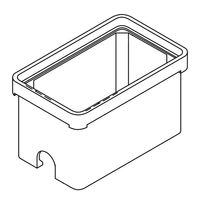 Quazite PG1324BA18 Precast Polymer Concrete Fiberglass Reinforced Straight Underground Concrete Box With Standard Open Bottom 24 Inch x 13 Inch x 18 Inch