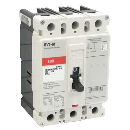 Eaton EDB3150 Panel Mount Type EDB Molded Case Circuit Breaker 3-Pole 150 Amp 240 Volt AC 125 Volt DC