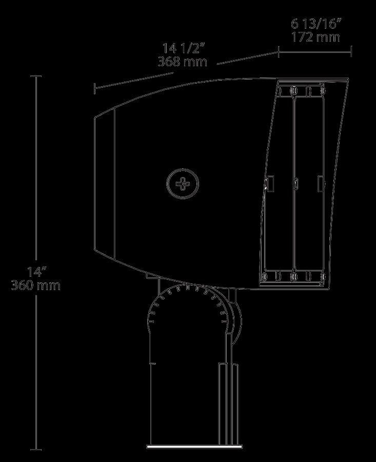 Rab Pipxl70sf D10 Led Flood Light Fixture 70 Watt 120